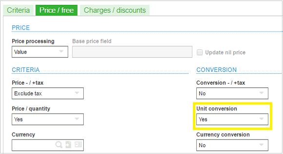 Sales Pricing Parameters